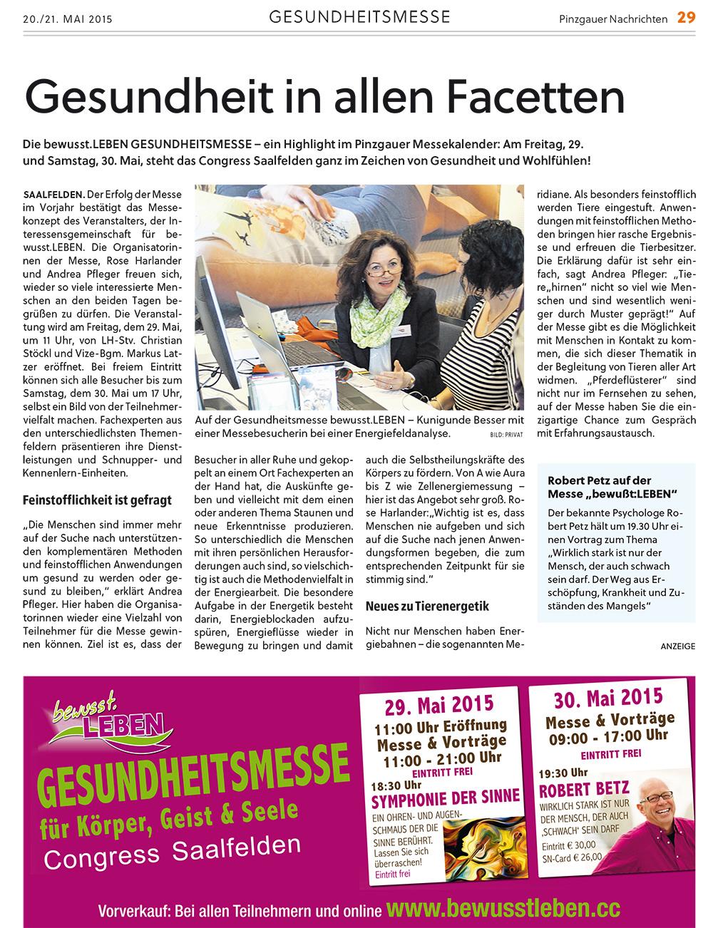 Pinzgauer Nachrichten vom 20/21. Mai 2015